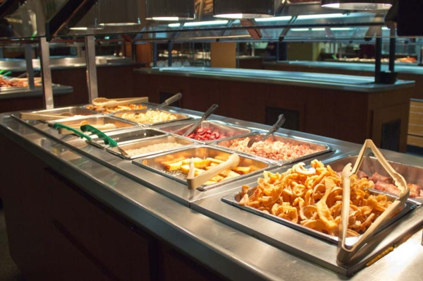 breakfast buffet with french toast sticks
