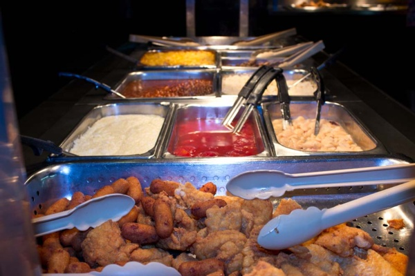 fried food at the buffet
