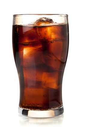 glass of pepsi with ice